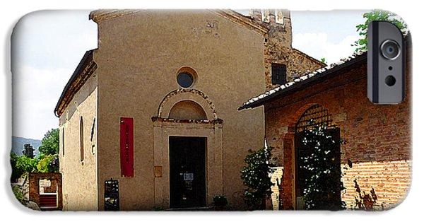 San Gimignano Tuscany Italy IPhone Case by Irina Sztukowski