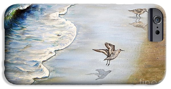 Sandpipers On The Beach IPhone Case by Zina Stromberg