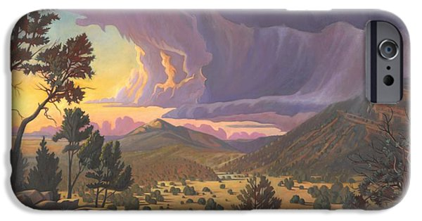Santa Fe Baldy IPhone Case by Art James West
