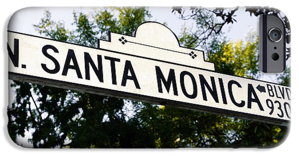 Santa Monica Blvd Street Sign In Beverly Hills IPhone 6s Case by Paul Velgos