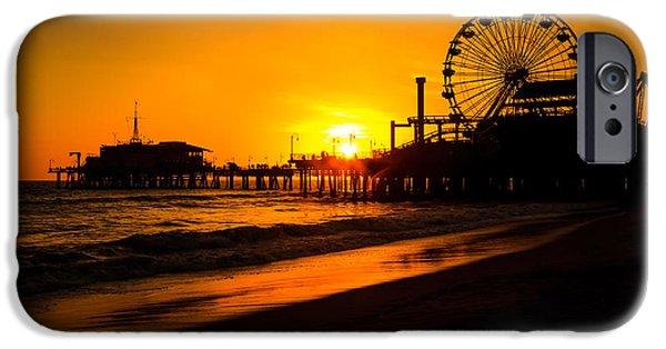 Santa Monica Pier California Sunset Photo IPhone 6s Case by Paul Velgos