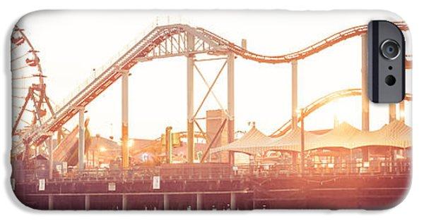 Santa Monica Pier Roller Coaster Panorama Photo IPhone 6s Case by Paul Velgos