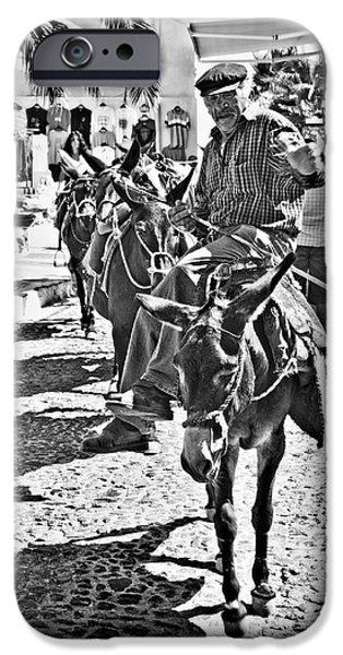 Santorini Donkey Train. IPhone 6s Case by Meirion Matthias
