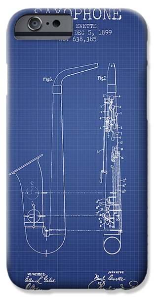 Saxophone Patent From 1899 - Blueprint IPhone 6s Case by Aged Pixel