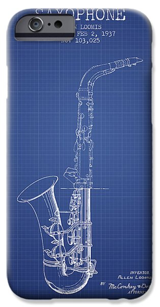 Saxophone Patent From 1937 - Blueprint IPhone 6s Case by Aged Pixel