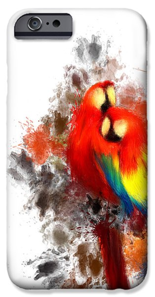 Scarlet Macaw IPhone 6s Case by Lourry Legarde