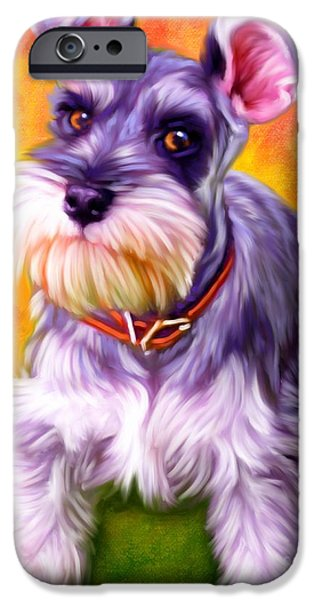 Schnauzer Art IPhone Case by Iain McDonald