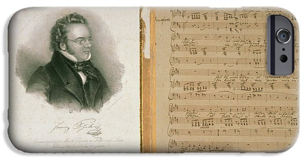 Schubert Song And Portrait IPhone Case by British Library