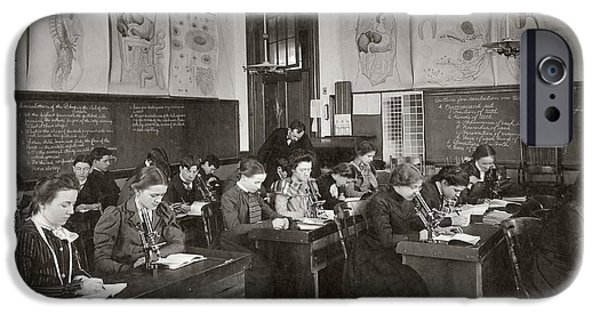 Science Students IPhone Case by The Miriam And Ira D. Wallach Division Of Art, Prints And Photographs: Photography Collection/new York Public Library