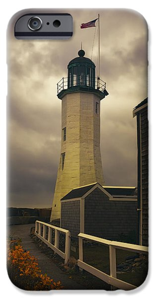 Scituate Light IPhone Case by Joan Carroll