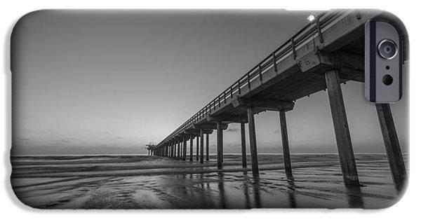 Scripps Pier Bw IPhone Case by Michael Ver Sprill