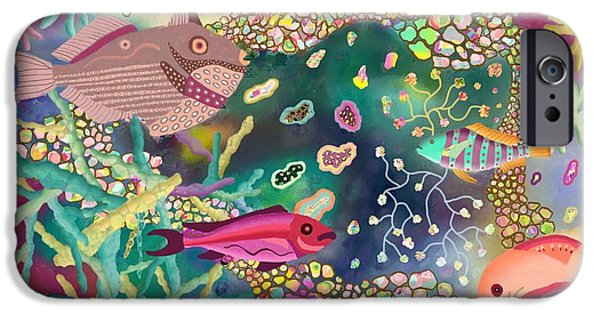 Sea Life 3 IPhone Case by Kerry Mitchell