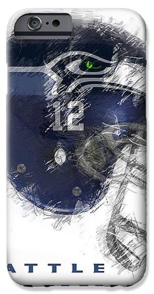 Seahawks 12 IPhone 6s Case by Daniel Hagerman