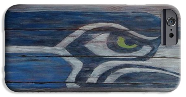 Seahawks IPhone Case by Xochi Hughes Madera