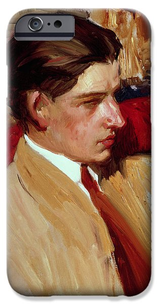 Self Portrait In Profile IPhone Case by Joaquin Sorolla y Bastida