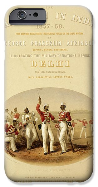 Sepoys At Rifle Practice IPhone Case by British Library