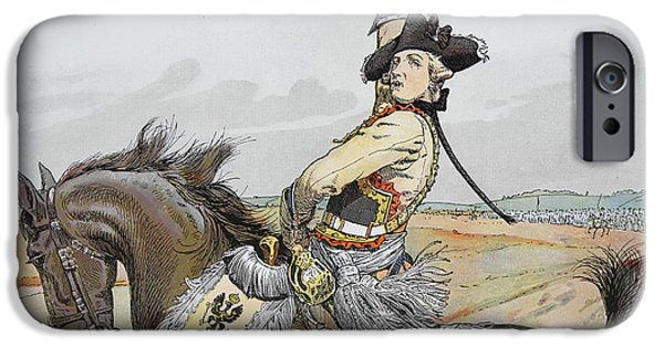 Seydlitz At Rossbach IPhone Case by Richard Knoetel