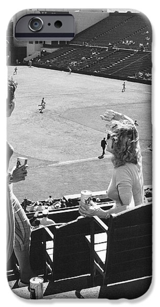 Sf Giants Fans Cheer IPhone Case by Underwood Archives