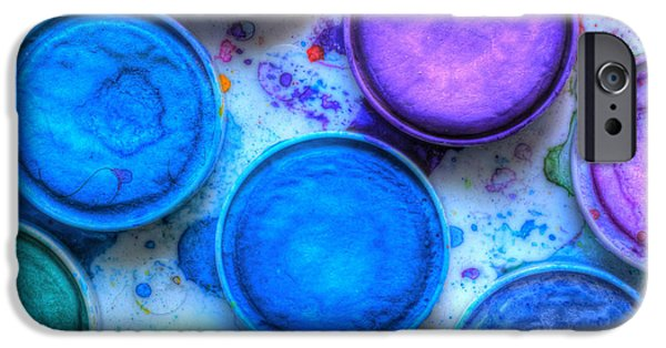 Shades Of Blue Watercolor IPhone Case by Heidi Smith