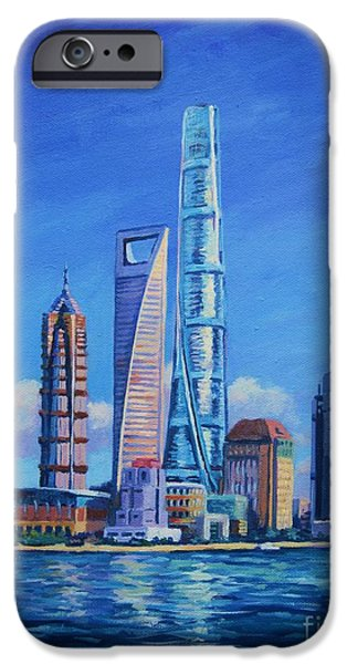 Shanghai Tower IPhone Case by John Clark