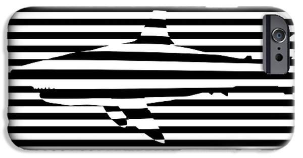 Shark Optical Illusion IPhone Case by Pixel Chimp