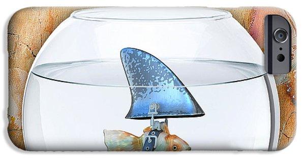 Shark Tale IPhone Case by Marvin Blaine
