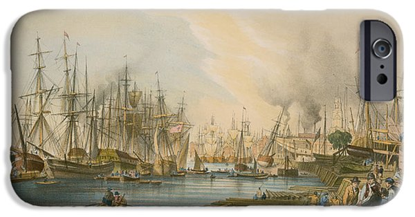 Ship Building At Limehouse IPhone Case by William Parrot