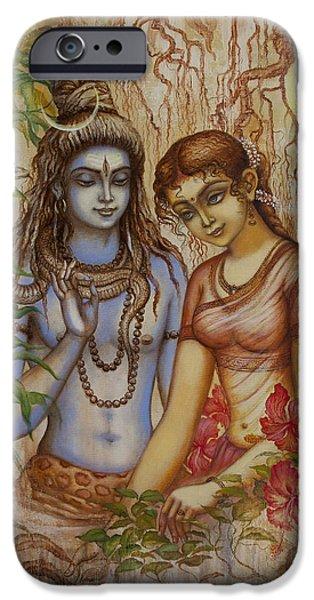 Shiva And Parvati IPhone Case by Vrindavan Das