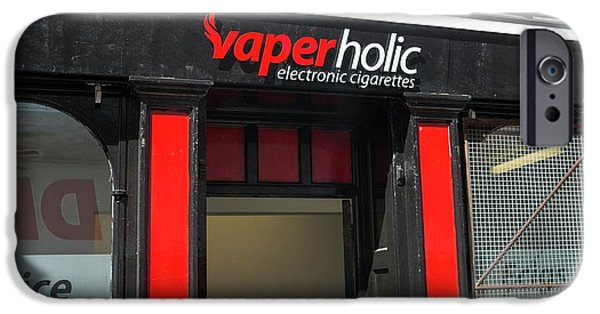 Shop Selling Electronic Cigarettes IPhone Case by Robert Brook