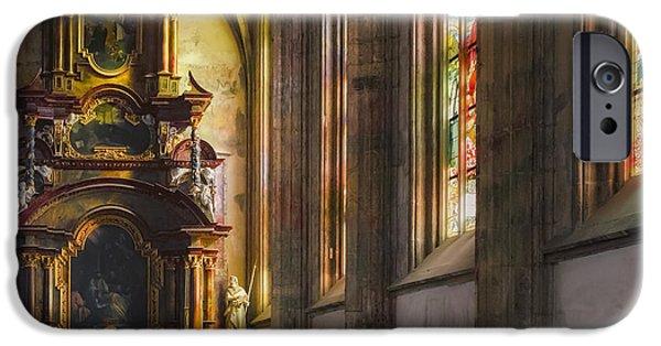 Side Chapel Of St Barbara IPhone Case by Joan Carroll