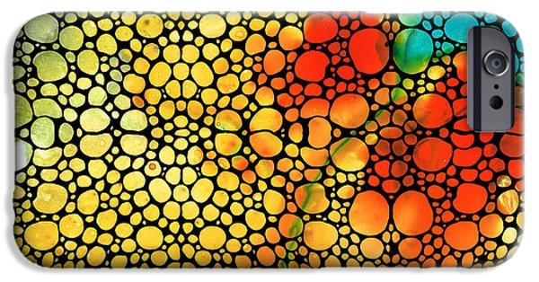 Siesta Sunrise - Stone Rock'd Art Painting IPhone Case by Sharon Cummings