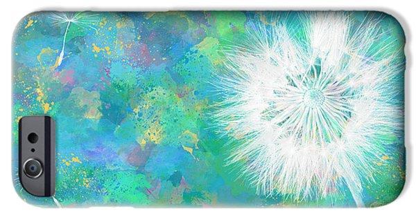 Silverpuff Dandelion Wish IPhone Case by Nikki Marie Smith