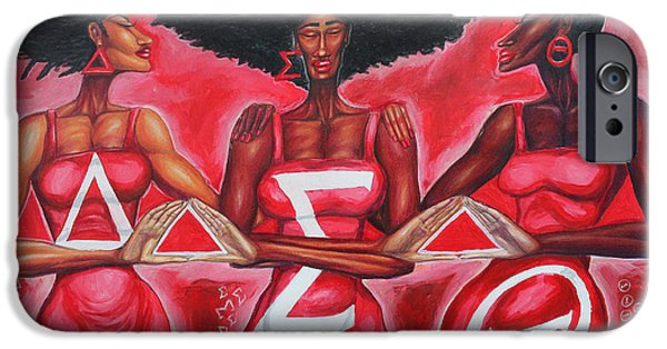 Sisterly Love Delta Sigma Theta IPhone Case by The Art of DionJa'Y