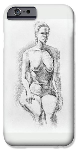 Sitting Model Study IPhone Case by Irina Sztukowski