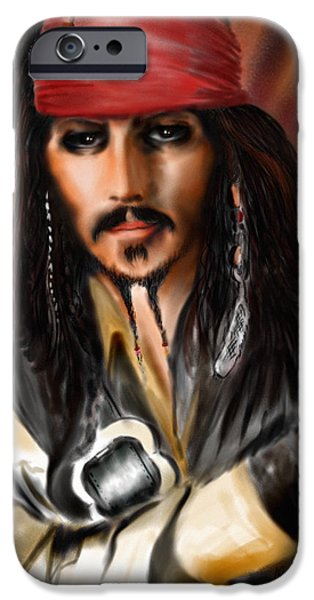 Sketching A Pirate... IPhone 6s Case by Alessandro Della Pietra