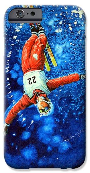 Skier Iphone Case IPhone Case by Hanne Lore Koehler