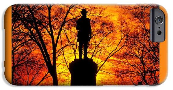 Sky Fire - Flames Of Battle 50th Pennsylvania Volunteer Infantry-a1 Sunset Antietam IPhone Case by Michael Mazaika