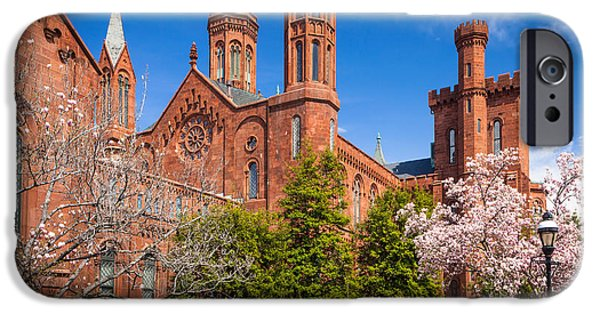 Smithsonian Castle Wall IPhone Case by Inge Johnsson