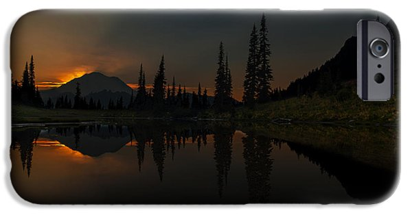 Smoldering Rainier IPhone Case by Mike Reid