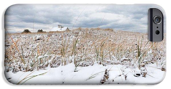 Smuggler's Beach Snow Cape Cod IPhone Case by Michelle Wiarda