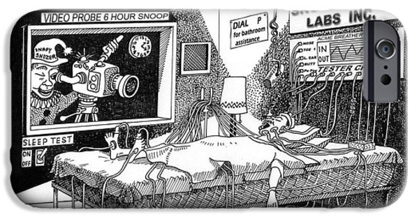 Snoozer Sleep Lab Study IPhone Case by Jack Pumphrey