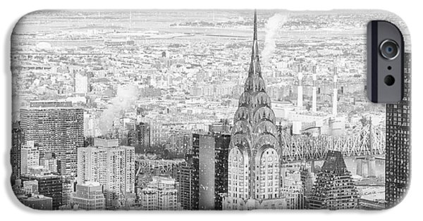 Snow - Chrysler Building And New York City Skyline IPhone Case by Vivienne Gucwa