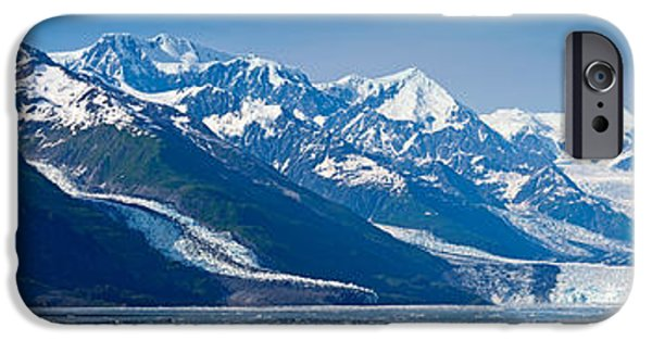 Snowcapped Mountains At College Fjord IPhone Case by Panoramic Images