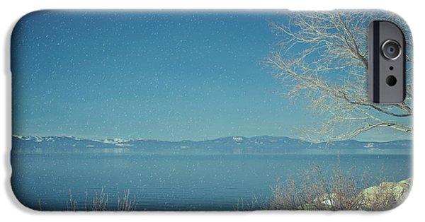 Snowing In Tahoe IPhone Case by Kim Hojnacki