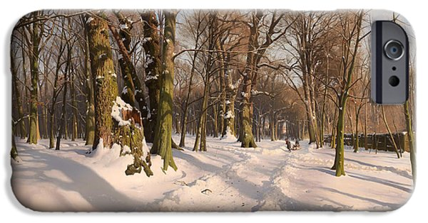 Snowy Forest Road 1908 IPhone Case by Mountain Dreams
