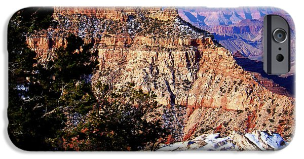 Snowy Grand Canyon Vista IPhone Case by Janice Sakry
