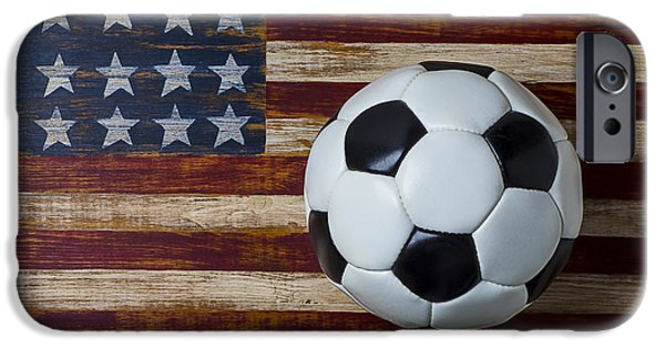 Soccer Ball And Stars And Stripes IPhone 6s Case by Garry Gay