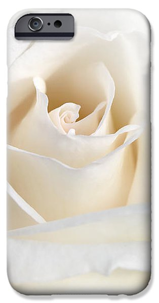 Soft Ivory Rose Flower IPhone Case by Jennie Marie Schell
