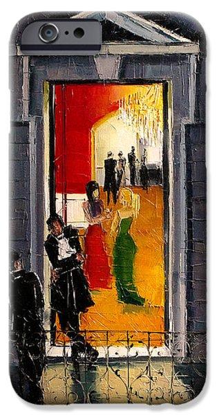 Soiree Parisienne IPhone Case by Mona Edulesco