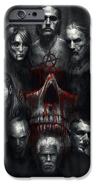 Sons Of Anarchy Tribute IPhone Case by Alex Ruiz